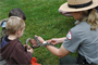 Park Ranger presenting wildlife program