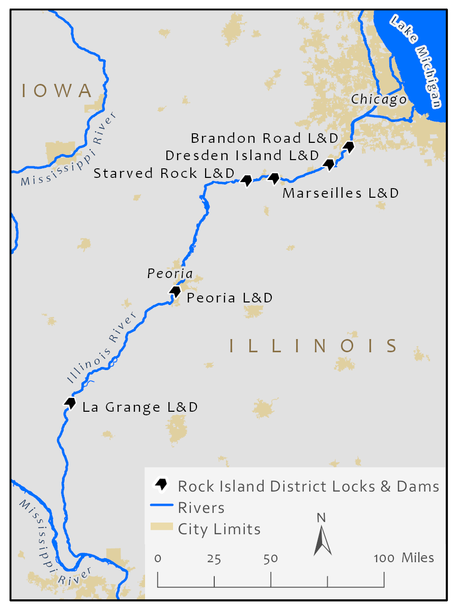 Locks impacted by upcoming closures on the Illinois Waterway