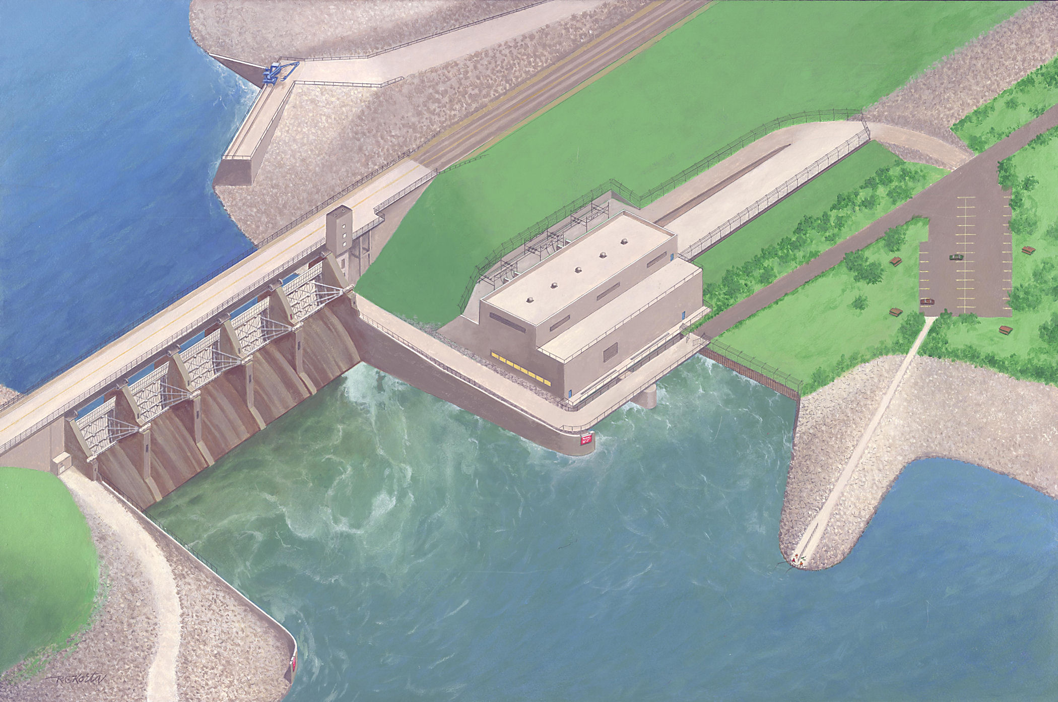 Hydropower Facility Concept Drawing
